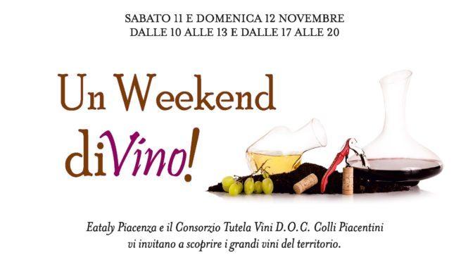 Locandina Weekend Divino Eataly Piacenza Ritagliata