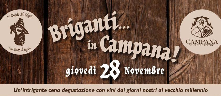 Briganti In Campana… Giovedì 28 Novembre 2019